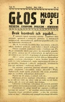 Głos Młodej Wsi, 1938, R. 6, nr 5