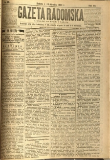 Gazeta Radomska, 1890, R. 7, nr 99