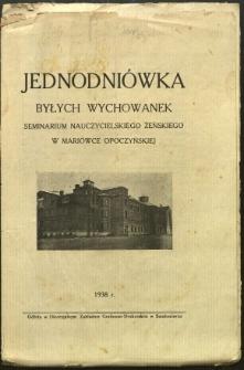 Jednodniówka Byłych Wychowanek Seminarium Nauczycielskiego Żeńskiego w Mariówce Opoczyńskiej