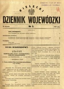 Kielecki Dziennik Wojewódzki, 1929, nr 2