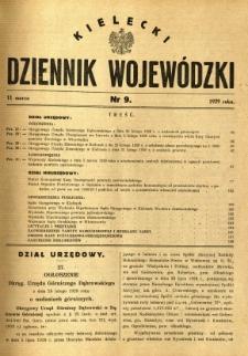 Kielecki Dziennik Wojewódzki, 1929, nr 9