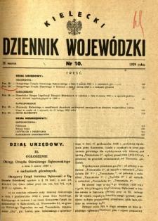 Kielecki Dziennik Wojewódzki, 1929, nr 10