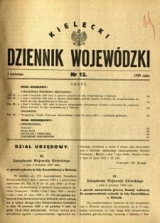 Kielecki Dziennik Wojewódzki, 1929, nr 12
