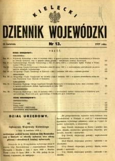 Kielecki Dziennik Wojewódzki, 1929, nr 13
