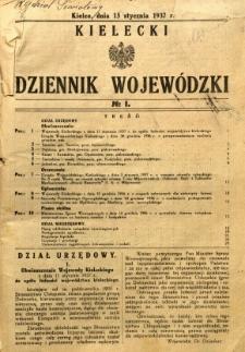 Kielecki Dziennik Wojewódzki, 1937, nr 1