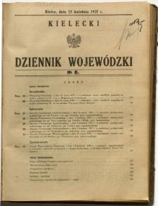 Kielecki Dziennik Wojewódzki, 1937, nr 8