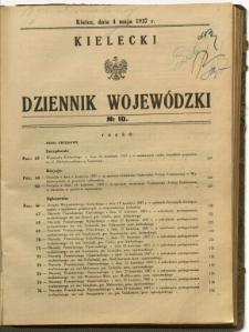Kielecki Dziennik Wojewódzki, 1937, nr 10