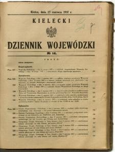 Kielecki Dziennik Wojewódzki, 1937, nr 14