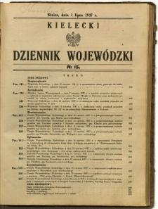 Kielecki Dziennik Wojewódzki, 1937, nr 15