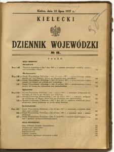 Kielecki Dziennik Wojewódzki, 1937, nr 16