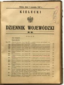 Kielecki Dziennik Wojewódzki, 1937, nr 19