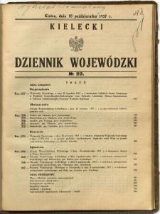 Kielecki Dziennik Wojewódzki, 1937, nr 22