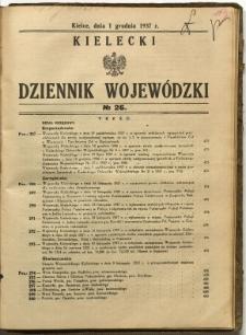 Kielecki Dziennik Wojewódzki, 1937, nr 26