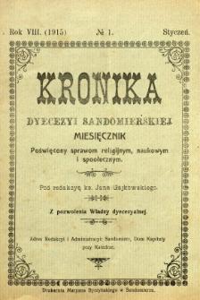 Kronika Diecezji Sandomierskiej, 1915, R. 8, nr 1