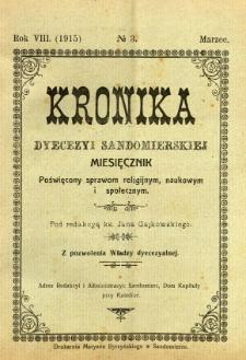 Kronika Diecezji Sandomierskiej, 1915, R. 8, nr 3