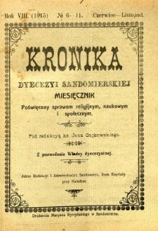 Kronika Diecezji Sandomierskiej, 1915, R. 8, nr 6/11