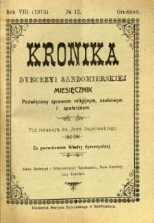 Kronika Diecezji Sandomierskiej, 1915, R. 8, nr 12