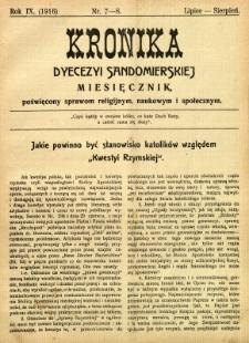 Kronika Diecezji Sandomierskiej, 1916, R. 9, nr 7/8