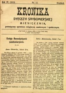 Kronika Diecezji Sandomierskiej, 1916, R. 9, nr 12