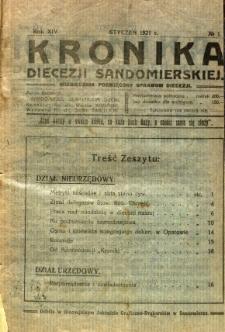 Kronika Diecezji Sandomierskiej, 1921, R. 14, nr 1