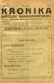 Kronika Diecezji Sandomierskiej, 1921, R. 14, nr 5