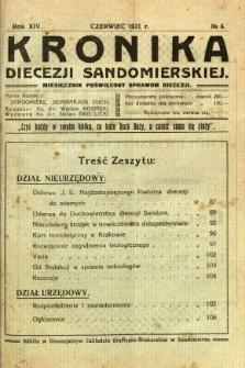 Kronika Diecezji Sandomierskiej, 1921, R. 14, nr 6