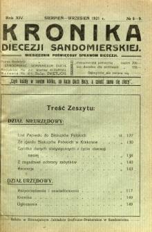 Kronika Diecezji Sandomierskiej, 1921, R. 14, nr 8/9