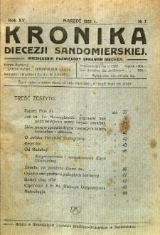 Kronika Diecezji Sandomierskiej, 1922, R. 15, nr 3