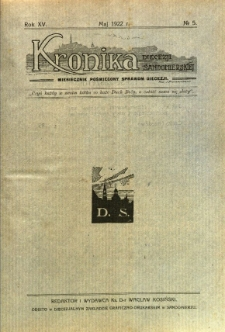 Kronika Diecezji Sandomierskiej, 1922, R. 15, nr 5