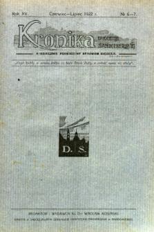 Kronika Diecezji Sandomierskiej, 1922, R. 15, nr 6/7