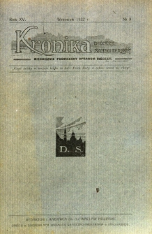 Kronika Diecezji Sandomierskiej, 1922, R. 15, nr 9