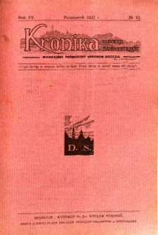 Kronika Diecezji Sandomierskiej, 1922, R. 15, nr 10