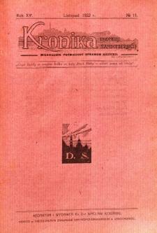 Kronika Diecezji Sandomierskiej, 1922, R. 15, nr 11