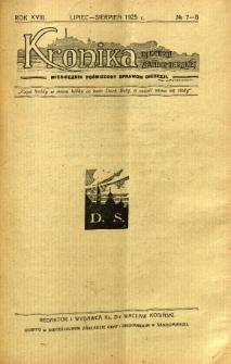 Kronika Diecezji Sandomierskiej, 1925, R. 18, nr 7/8