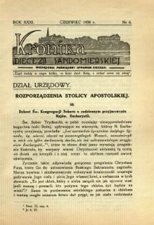 Kronika Diecezji Sandomierskiej, 1938, R. 31, nr 6