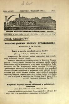 Kronika Diecezji Sandomierskiej, 1941, R. 34, nr 3