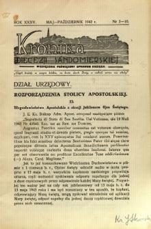 Kronika Diecezji Sandomierskiej, 1942, R. 35, nr 2/10