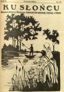 Ku Słońcu, 1928, R. 3, nr 10