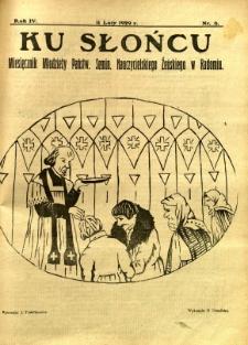 Ku Słońcu, 1929, R. 4, nr 6