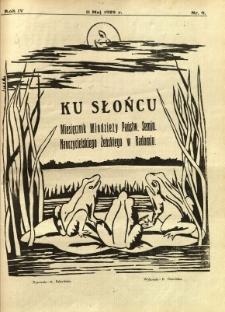Ku Słońcu, 1929, R. 4, nr 9