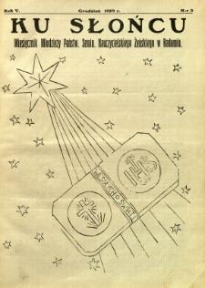 Ku Słońcu, 1929, R. 5, nr 3