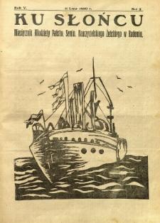 Ku Słońcu, 1930, R. 5, nr 5