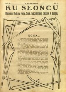 Ku Słońcu, 1930, R. 5, nr 6