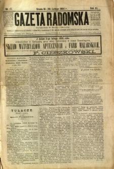 Gazeta Radomska, 1894, R. 11, nr 17