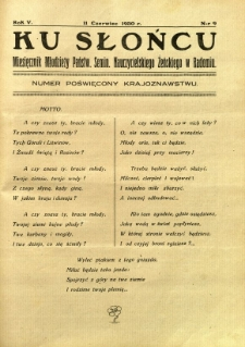 Ku Słońcu, 1930, R. 5, nr 9
