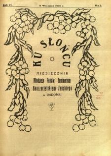 Ku Słońcu, 1930, R. 6, nr 1