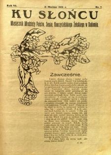 Ku Słońcu, 1931, R. 6, nr 7