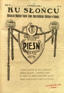 Ku Słońcu, 1931, R. 6, nr 8