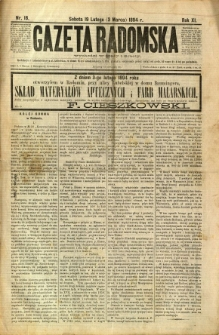 Gazeta Radomska, 1894, R. 11, nr 18