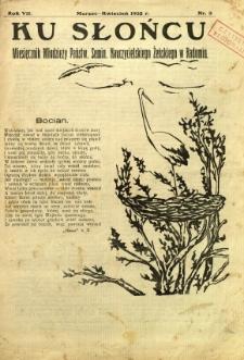 Ku Słońcu, 1932, R. 7, nr 4